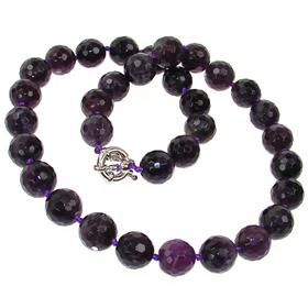 Breathtaking Amethyst Necklace 19 inches long