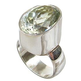 Artisan Citrine Sterling Silver Ring size N 1/2
