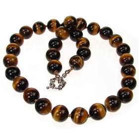 Breathtaking Tiger Eye Necklace 18 inches long