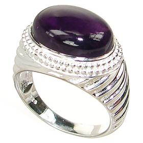 Delightful Amethyst Sterling Silver Ring size P