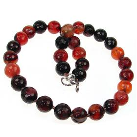 Carnelian Agate Fashion Necklace 16 inches long