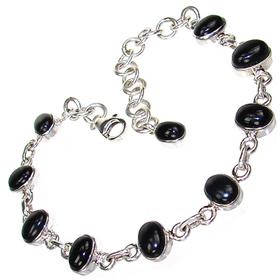 Black Onyx Sterling Silver Bracelet Jewellery