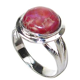 Sea Sediment Sterling Silver Ring size L 1/2