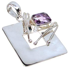 Royal Amethyst Sterling Silver Pendant