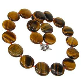 Breathtaking Tiger Eye Fashion Necklace 18 inches long