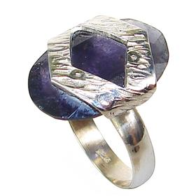 Delightful Iolite Sterling Silver Ring size O 1/2