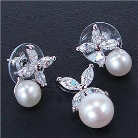 Fancy Pearl Sterling Silver Set