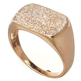 Plain Gold plated Ring size R 1/2