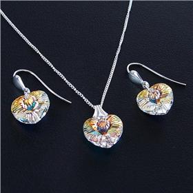 Artisan Madagascar Fire Quartz Sterling Silver Set