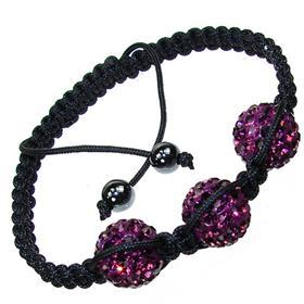 Shamballa Purple Crystal Bracelet