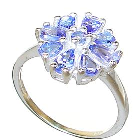 Fancy Tanzanite Sterling Silver Ring size P 1/2
