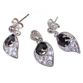 Gallant Black Onyx Sterling Silver Set