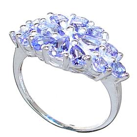 Fancy Tanzanite Sterling Silver Ring size N 1/2