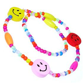 Multi-Colour Smily Face Fashion Necklace 16 inches long