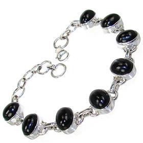 Black Obsidian Sterling Silver Bracelet Jewellery