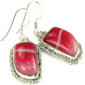 Botswana Agate Sterling Silver Earrings. Silver Gemstone Earrings.
