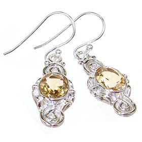 Artisan Citrine Sterling Silver Earrings