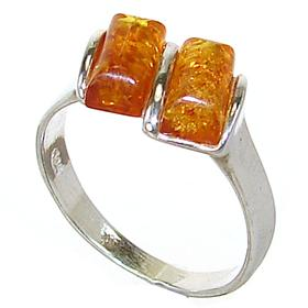 Polish Baltic Amber Sterling Silver Ring size K 1/2