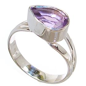Delightful Amethyst Sterling Silver Ring size O 1/2