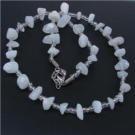 Elegant Moonstone Necklace 20 inches long