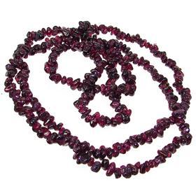 Elegant Garnet Fashion Necklace 36 inches long