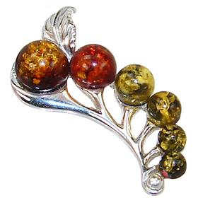Honey Amber Sterling Silver Pendant