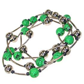 Fancy Green Fashion Necklace 44 inches