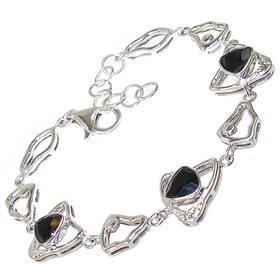 Glamorous Black Onyx Sterling Silver Bracelet