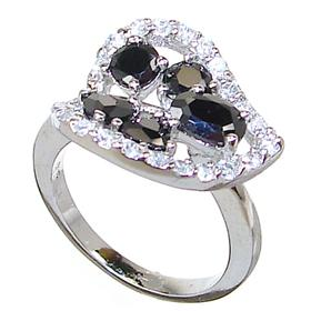 Black Onyx Sterling Silver Ring size L 1/2