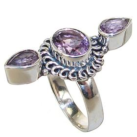 Royal Amethyst Sterling Silver Ring size P