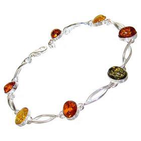 Polish Baltic Amber Sterling Silver Bracelet