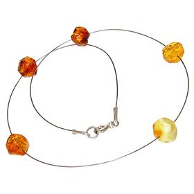 Polish Baltic Amber Sterling Silver Necklace 16 inches