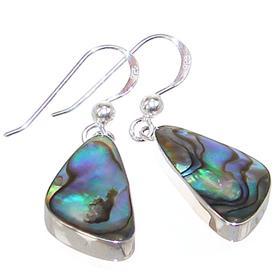 Abalone Shiva Shell Sterling Silver Earrings
