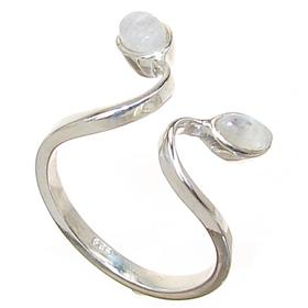 Rainbow Moonstone Sterling Silver Ring size P