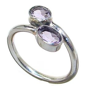 Delightful Amethyst Sterling Silver Ring size Q 1/2