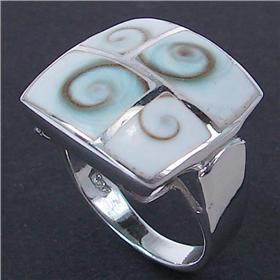 Shiva Shell Sterling Silver Ring size P
