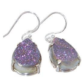 Titanum Druzy Sterling Silver Earrings Jewellery