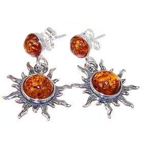 Polish Baltic Amber Sterling Silver Earrings