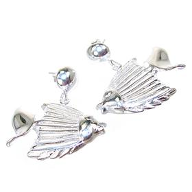 Fancy Fish Sterling Silver Earrings