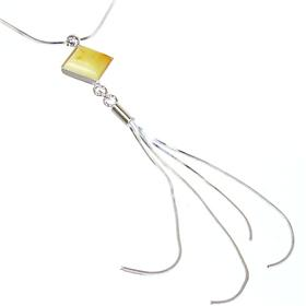 Polish Baltic Amber Sterling Silver Necklace 15 inches