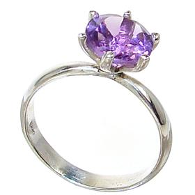 Amethyst Sterling Silver Ring size R