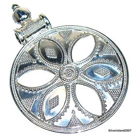 Plain Sterling Silver Pendant.