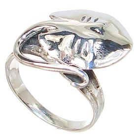 Skate Fish Sterling Silver Ring size N