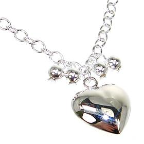 Paris Heart Sterling Silver Necklace lenght 17 inches