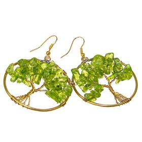 Large Peridot Fashion Earrings