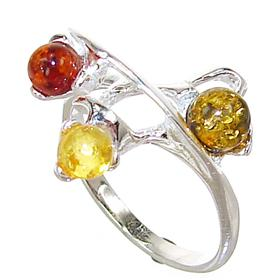 Baltic Amber Sterling Silver Gemstone Ring size M