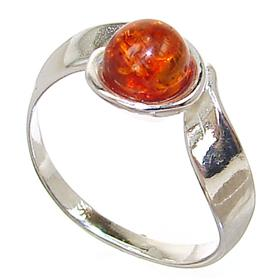 Baltic Amber Sterling Silver Gemstone Ring size P 1/2