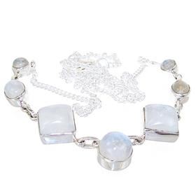 Elegant Moonstone Sterling Silver Necklace Jewellery 18 inches long