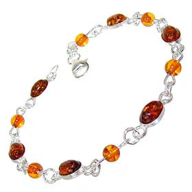 Polish Baltic Amber Sterling Silver Bracelet