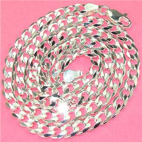 "Massive Cuban Sterling 925 Silver Chain 18"" Jewellery"